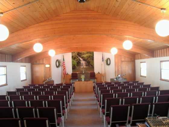 Interior of Golden Hills Baptist Church of Lead